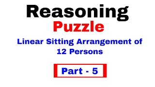 Linear Arrangement Reasoning Puzzle for IBPS PO/ Clerk [In Hindi] Part 5