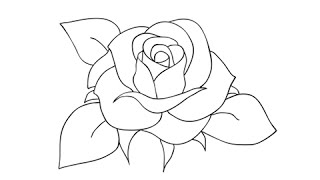 getlinkyoutube.com-How to draw a rose - Easy step-by-step drawing lessons for kids