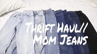 Thrift Haul: MOM JEANS | TheThrifterDiaries
