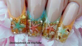 """getlinkyoutube.com-"""" Starfish Ocean Pearl Nails """" ( GEL ) -THE TUTORIAL * TUTORIAL"""