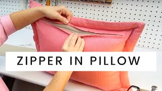 getlinkyoutube.com-How To Put A Zipper In A Pillow