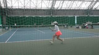 getlinkyoutube.com-2015 インカレ テニス 女子シングルス準決勝 吉冨愛子 対 久次米夏海 ①
