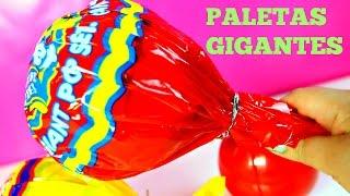 getlinkyoutube.com-Paletas Gigantes de Chocolate Juguetes Sorpresa Peppa Pig Shopkins Monster high Mundo de Juguetes