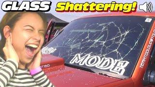 getlinkyoutube.com-SHATTERING Windshields w/ LOUD Subwoofer BASS | INSANE Car Audio Sound System SUBS Breaking Glass
