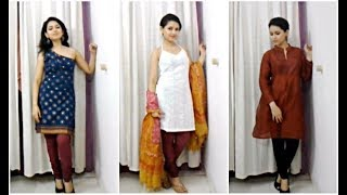 getlinkyoutube.com-Trend Alert: 7 Different Kurta Cuts/Styles - 10 Outfit Ideas