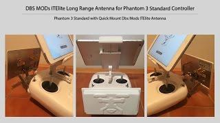 getlinkyoutube.com-DBS MODs ITELITE Long Range Antenna for Dji Phantom 3 Standard