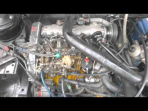 Peugeot 405 работа прогретого двигателя.