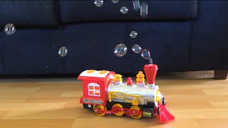 Thomas and Friends Toy Train Steam n Go and a Big Train Making Bubble