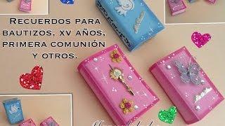 getlinkyoutube.com-RECUERDOS PARA BAUTIZOS, XV AÑOS Y OTROS EN FORMA DE  LIBROS DE FOAMY O GOMA EVA