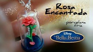 Rosa encantada mini 🌹de La Bella y La Bestia PORCELANA FRÍA