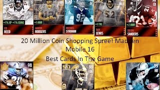 getlinkyoutube.com-20 Million Coin Shopping Spree! Gameplay! Best Cards in The Game! Madden Mobile 16