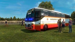 ETS 2 Bus Harapan Jaya Ngebut Penumpang Penuh |  Bus Passenger Full