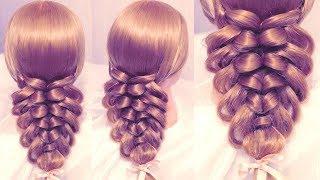 getlinkyoutube.com-Коса с помощью резинок - Pigtail hairstyle - Hairstyles by REM