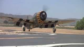 getlinkyoutube.com-RC Giant 90 lbs P47 with 3W220 CC Engine Chino 2014 March