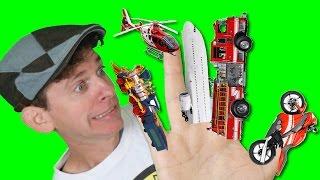getlinkyoutube.com-Finger Family Song - Vehicles with Matt | Action Song, Nursery Rhyme | Learn English Kids