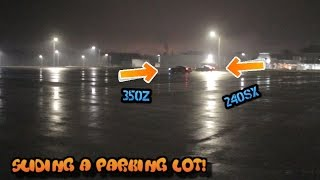 SR20 240SX PARKING LOT SKIDS!