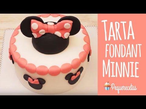 Tarta fondant de Minnie Mouse