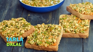 getlinkyoutube.com-Open Paneer Masala Toast ( Healthy Breakfast )by Tarla Dalal