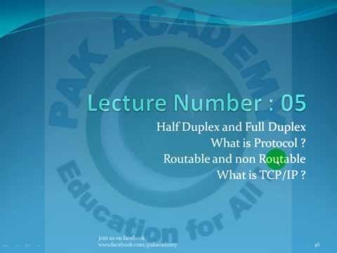 Basic Networking Fundamentals in Urdu (Duplex TCP/IP Protocol ) Part 05