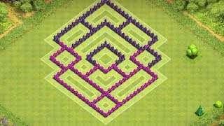getlinkyoutube.com-Clash Of Clans - Amazing Town Hall 7 Trophy Base (th7) !! Speed Build 2014 !