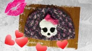 getlinkyoutube.com-Crochet Skullette Applique Pattern