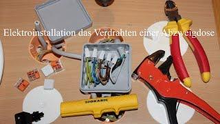 getlinkyoutube.com-Elektroinstallation das Verdrahten einer Abzweigdose