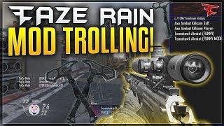 FAZE RAIN GOES TOMAHAWK AIMBOT TRICKSHOTTING! Black Ops 2 Mod Trolling @FaZe_Rain