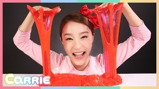 getlinkyoutube.com-캐리의 빨강 액괴 만들기 액체괴물 장난감 거대풍선 놀이 CarrieAndToys