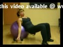 Incline Dumbbell Bicep Curl  Swiss Ball Exercise