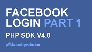 getlinkyoutube.com-Facebook php sdk v4.0 part 1 - Login and get name of user