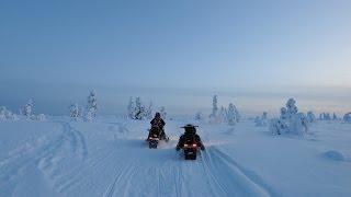 getlinkyoutube.com-Snowmobile Ylläs Top of Äkäslompolo