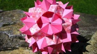 getlinkyoutube.com-Origami ❉ Queen`s Crown ❉ Kusudama
