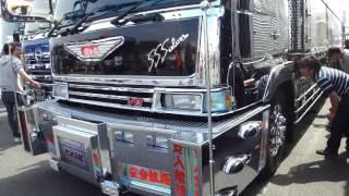 getlinkyoutube.com-デコトラ アートトラック 由加丸 椎名急送 8番 パート3