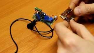 getlinkyoutube.com-Усилитель микрофона на одном транзисторе