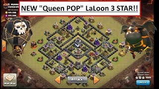 """getlinkyoutube.com-Clash of Clans. New TH9 3 STAR MAX Popular Moat Base. """"Queen POP"""" LaLoon.  Best attack"""