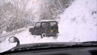 getlinkyoutube.com-Suzuki Jimny - Samurai 660cc 4X4 Turbo & Mitsubishi - Mini pajero 4x4 660cc On Ice. Part 2