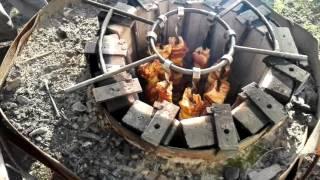 getlinkyoutube.com-Шашлык в тандыре.Kebab in the tandoor,在泥爐串. Spiedini di tandoor.σουβλάκια στη tandoor