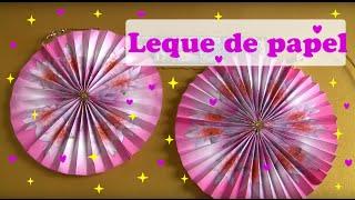getlinkyoutube.com-COMO FAZER LEQUE CIRCULAR DECORATIVO DE PAPEL