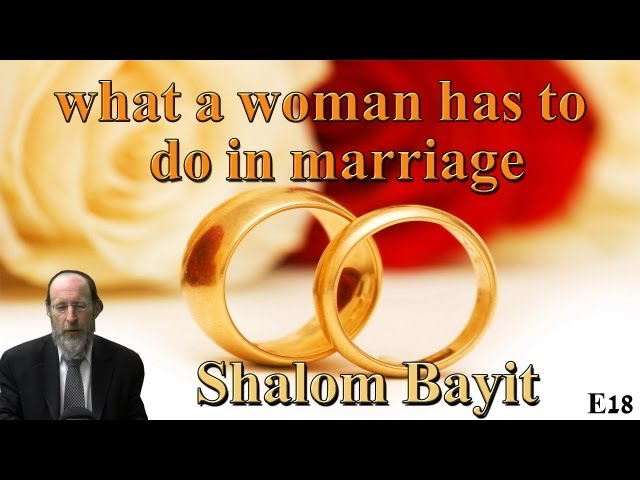 E18 what a woman has to do in marriage