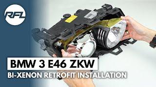 getlinkyoutube.com-BMW 3 E46 ZKW xenon projector headlight repair kit installation