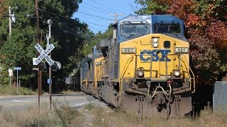 getlinkyoutube.com-Rare Mileage! Two Parts of the Ringling Bros Circus Train in Framingham!