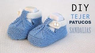getlinkyoutube.com-DIY Cómo tejer patucos sandalia para bebe (patrones gratis)