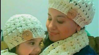 👧👩Gorro en crochet(ganchillo) para niña o mujer paso a paso