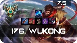 Master Wukong Jungle vs Shen Season 7 s7 Patch 7.5 2017 Gameplay Guide Build Normals