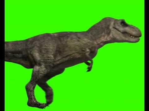 Jurassic Park T Rex Green Screen Animation (Turbosquid 3D Studio Max After Effects)