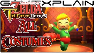 getlinkyoutube.com-Zelda: Tri Force Heroes - All Costumes