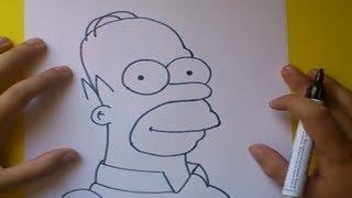 getlinkyoutube.com-Como dibujar a Homer simpson paso a paso - Los Simpsons | How to draw Homer simpson - The Simpsons