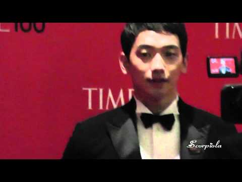 [Rain (Bi) Fancam]110426 Rain recording after TIME100 Gala Party in NY
