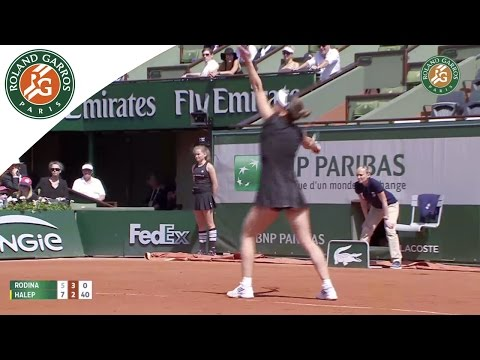 Simona Halep v. Evgeniya Rodina French Open 2015 Women`s 1R Highlights
