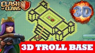 "Clash Of Clans | INCREDIBLE 3D TROLL BASE! A MUST WATCH! | ""THE ROYAL PALACE"""